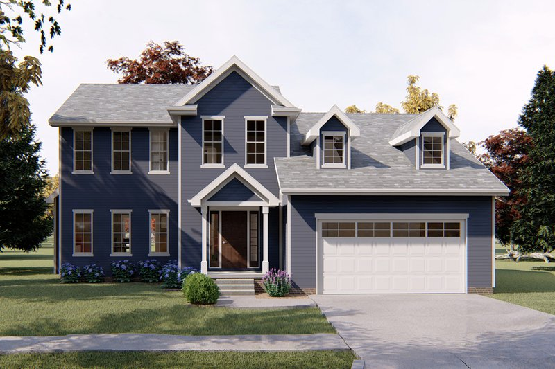 Traditional Style House Plan - 4 Beds 3.5 Baths 2317 Sq/Ft Plan #455-214 Exterior - Front Elevation