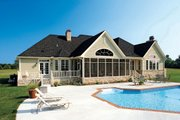 Country Style House Plan - 4 Beds 3 Baths 2818 Sq/Ft Plan #929-13 Exterior - Rear Elevation