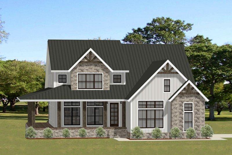 Craftsman Exterior - Front Elevation Plan #898-51