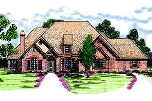 House Plan Design - European Exterior - Front Elevation Plan #52-117