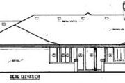 Prairie Style House Plan - 4 Beds 2 Baths 2240 Sq/Ft Plan #45-199 Exterior - Rear Elevation