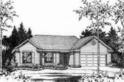 Traditional Style House Plan - 3 Beds 2 Baths 1554 Sq/Ft Plan #22-465 Exterior - Other Elevation
