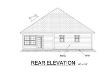 House Plan Design - Traditional Exterior - Rear Elevation Plan #513-15