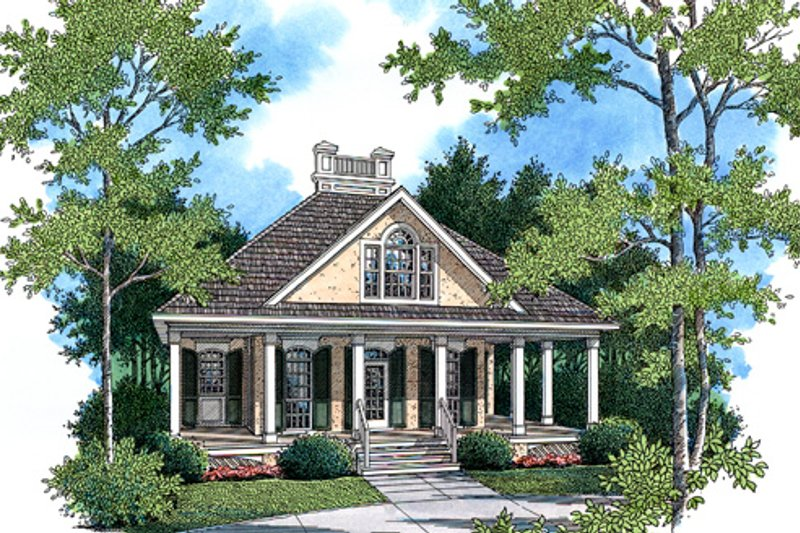 Southern Exterior - Front Elevation Plan #45-315