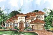 European Style House Plan - 3 Beds 3 Baths 2851 Sq/Ft Plan #27-297 Exterior - Front Elevation