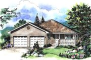 House Plan - 3 Beds 2 Baths 1375 Sq/Ft Plan #18-179 Exterior - Front Elevation