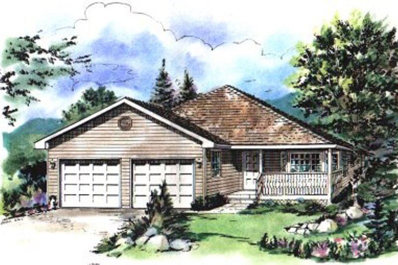 Exterior - Front Elevation Plan #18-179