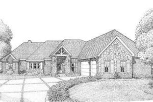 Craftsman Exterior - Front Elevation Plan #410-136