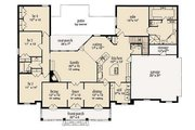 Mediterranean Style House Plan - 4 Beds 2.5 Baths 2408 Sq/Ft Plan #36-463 Floor Plan - Main Floor