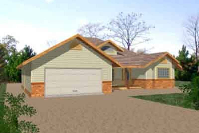 Traditional Exterior - Front Elevation Plan #117-208