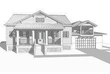 Cottage Exterior - Front Elevation Plan #938-87