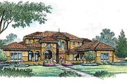 European Style House Plan - 4 Beds 5.5 Baths 6593 Sq/Ft Plan #135-139 Exterior - Front Elevation