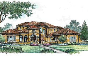 European Exterior - Front Elevation Plan #135-139