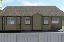 Dream House Plan - Ranch Exterior - Rear Elevation Plan #1060-12
