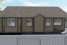 Dream House Plan - Ranch Exterior - Rear Elevation Plan #1060-12