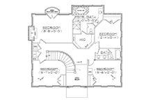 European Floor Plan - Upper Floor Plan Plan #5-373