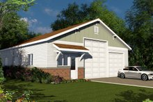 House Plan Design - Traditional Exterior - Front Elevation Plan #124-1070