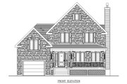 Country Style House Plan - 3 Beds 1.5 Baths 1352 Sq/Ft Plan #138-320 Exterior - Other Elevation