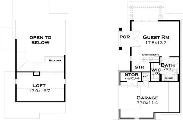 European Floor Plan - Other Floor Plan Plan #120-182