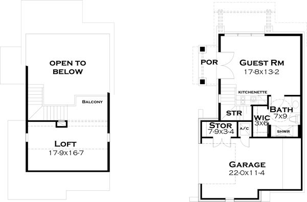 European Floor Plan - Other Floor Plan Plan #120-182
