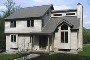 Modern Style House Plan - 3 Beds 3 Baths 1922 Sq/Ft Plan #75-169 Exterior - Front Elevation