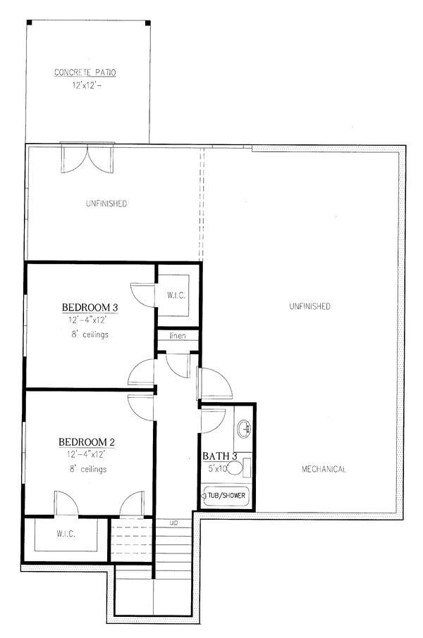 Dream House Plan - Cottage Floor Plan - Lower Floor Plan #437-117