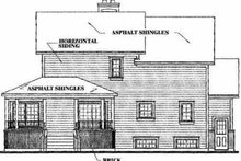 Farmhouse Exterior - Rear Elevation Plan #23-2008