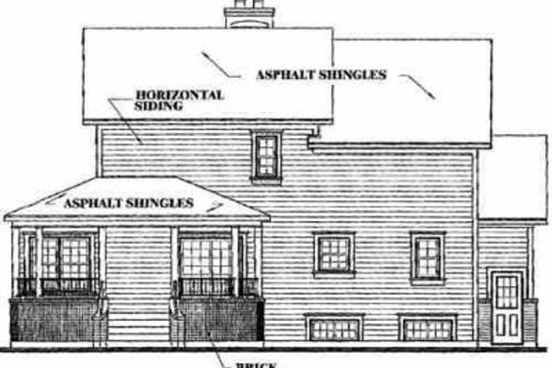 Farmhouse Exterior - Rear Elevation Plan #23-2008 - Houseplans.com