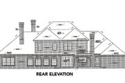 European Style House Plan - 4 Beds 3.5 Baths 4462 Sq/Ft Plan #310-642 Exterior - Rear Elevation