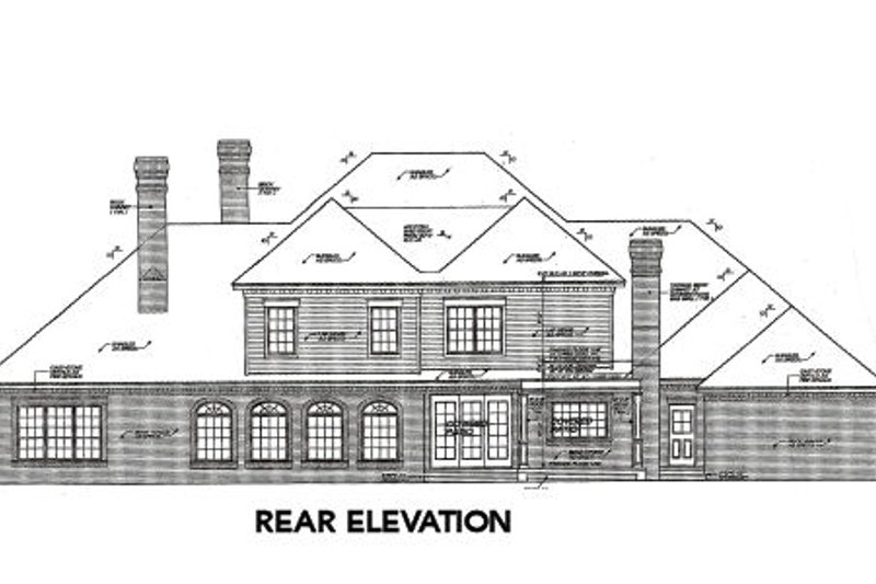 European Exterior - Rear Elevation Plan #310-642 - Houseplans.com