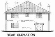 European Style House Plan - 5 Beds 3 Baths 2732 Sq/Ft Plan #18-9317 Exterior - Rear Elevation