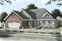 Dream House Plan - Traditional Exterior - Front Elevation Plan #20-1673