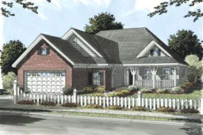 Traditional Exterior - Front Elevation Plan #20-1673