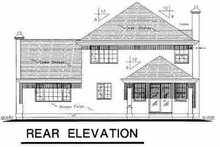House Blueprint - European Exterior - Rear Elevation Plan #18-202