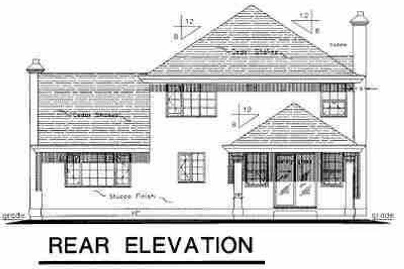 European Exterior - Rear Elevation Plan #18-202 - Houseplans.com