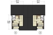 Contemporary Style House Plan - 6 Beds 4 Baths 3404 Sq/Ft Plan #25-4611 Floor Plan - Upper Floor