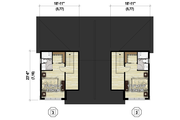 Contemporary Style House Plan - 6 Beds 4 Baths 3404 Sq/Ft Plan #25-4611