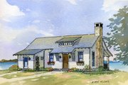 Cottage Style House Plan - 3 Beds 3.5 Baths 2238 Sq/Ft Plan #901-35 Exterior - Front Elevation
