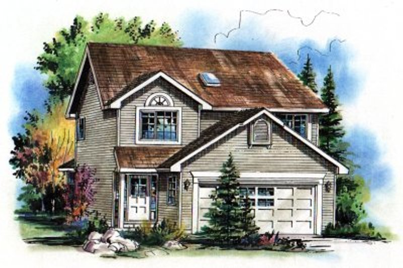 House Blueprint - Traditional Exterior - Front Elevation Plan #18-282