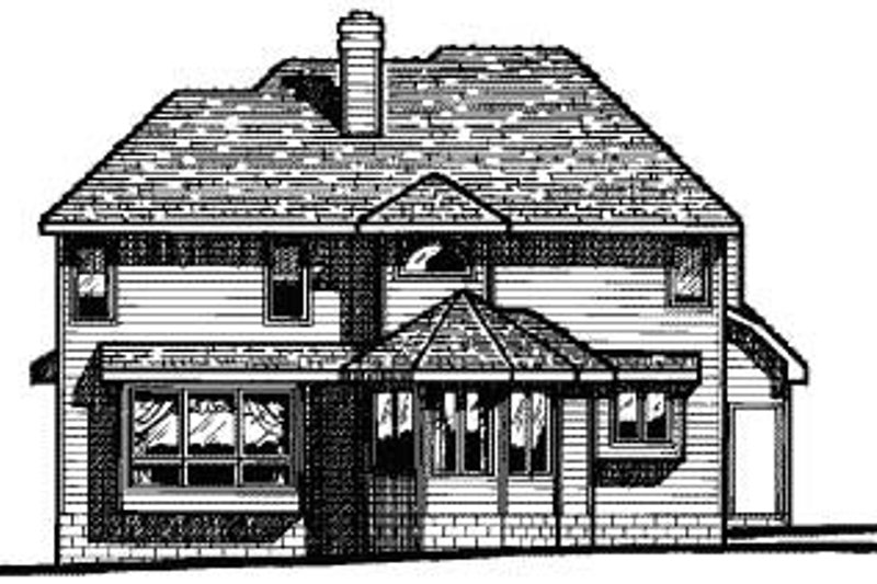Traditional Exterior - Rear Elevation Plan #20-705 - Houseplans.com