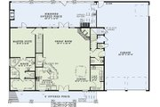 Country Style House Plan - 3 Beds 2.5 Baths 2575 Sq/Ft Plan #17-2459 Floor Plan - Main Floor Plan