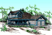 Country Style House Plan - 3 Beds 2.5 Baths 2412 Sq/Ft Plan #60-352 Exterior - Front Elevation