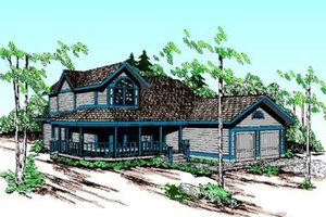 Country Exterior - Front Elevation Plan #60-352