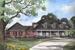 Country Exterior - Front Elevation Plan #17-579