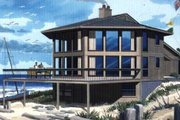 Contemporary Style House Plan - 4 Beds 2 Baths 3172 Sq/Ft Plan #320-300 Exterior - Front Elevation