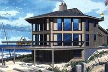 Dream House Plan - Contemporary Exterior - Front Elevation Plan #320-300