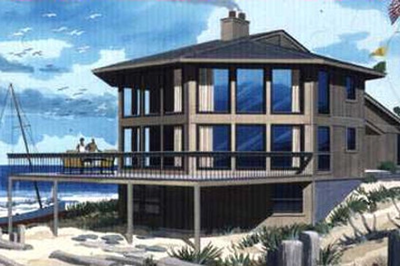 Contemporary Exterior - Front Elevation Plan #320-300