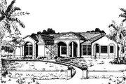 Adobe / Southwestern Style House Plan - 4 Beds 2 Baths 2185 Sq/Ft Plan #24-134