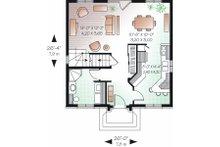 European Floor Plan - Main Floor Plan Plan #23-732