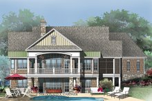 House Plan Design - European Exterior - Rear Elevation Plan #929-4